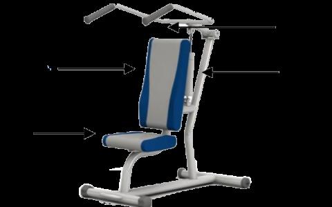 Ghế tập đẩy vai, tập cơ lưng-ngực bằng thuỷ lực HE-01