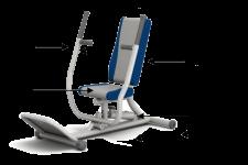 Ghế tập đẩy ngực, tập khớp vai dạng chèo thuyền bằng thuỷ lực HE-02