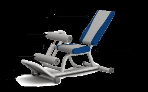 Ghế tập bụng-lưng bằng thuỷ lực HE-05