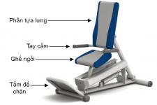 Ghế tập đạp chân dạng ngồi bằng thuỷ lực HE-10